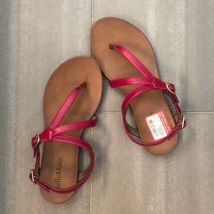 •hot pink sandals•